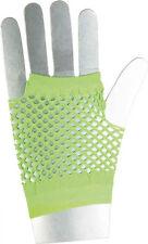 Netzhandschuhe kurz neon-grün NEU - Zubehör Accessoire Karneval Fasching