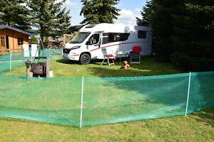 Begrenzungszaun Hund Campingzaun 80cm Hoch 20m Hütenetz Gartenzaun Hundezaun