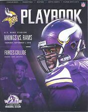 Minnesota Vikings Los Angeles Rams 9/1/16 Program Linval Joseph and Alex Boone