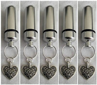 Cremation Jewellery Ashes Urn Set w Filigree Heart Keepsake Memorial Necklace