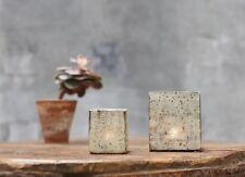Antique Silver Etched Mercury Glass Square Tea Light Holder, Large Subira Nkuku