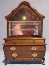 Traditional Victorian Style Breakfront China Doll House Miniature