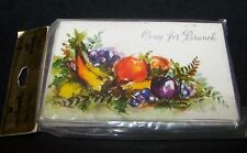Vintage Come for Brunch Invitations Cards Hallmark Plans-a-Party Fruit 8 Ct