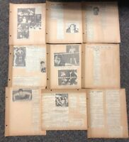 Rare 1941 Boxing Parts of Scrapbook Joe Louis Championship Buddy Baer Tony Zale