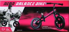 "~SALE ~Neon Balance Bike 12"" Neonvybe 101242 Pink & Black Brand New Age 2-4 Max"
