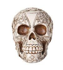 """Templar Knights Skull Heraldry Lion Skull Collectible 6""""H"""