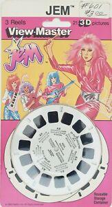 Vintage Jem Hasbro View Master 3 Reels 1986  NOS MOC