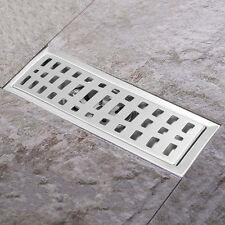 Stainless Steel Bathroom Floor Waste Drain Shower Square WasteGrate 20x10CM