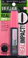 Maybelline 250 Blackest Black Volume Mascara Great Lash Real Impact Shea Butter