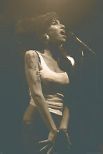 """Amy winehouse live in concert poster 24""""x36"""" maxi taille"""