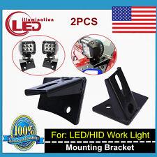Pair Windshield Driving LED Light Mount Brackets Kit For 07-18 Jeep Wrangler JK