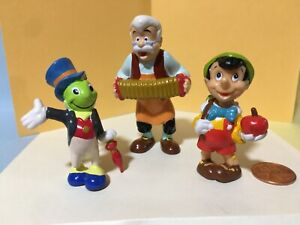Pinocchio plastic PVC figures Disney characters Jiminy Cricket Geppetto Applause