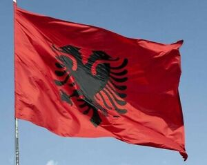 Giant Flag Of Albania Albanian E SHQIPËRISË SPEEDY DELIVERY