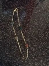 Gold Plated Necklace On Copper With Fancy Jasper Oval Gemstones With Heart Shape