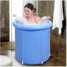 Aufblasbare Badewanne Bathtub Erwachsene Badeeimer Folding Wannenbad Blau