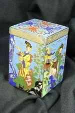Caja cuadrada china. Esmalte cloisonné. S.XX. Chinese square box. Enamel.