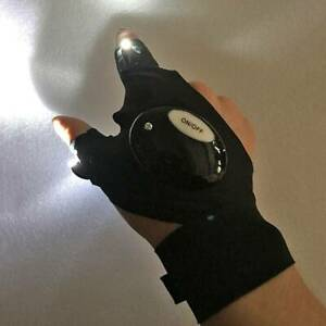 Night Light Waterproof Fishing Gloves with LED Flashlight Rescue Tools Outdoor