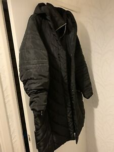 Evans Black Winter Coat Size 24 Maternity Warm