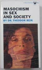 MASOCHISM IN SEX AND SOCIETY DR THEODOR REIK GROVE PRESS BLACK CAT BOOK BD-13