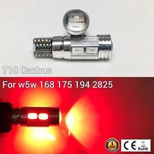 T10 W5W 194 168 2825 175 Parking marker corner Light Red 10 SMD Canbus LED M1 M