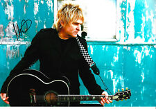"""Mike Peters """"The Alarm"""" signed 8x12 inch photo autograph"""