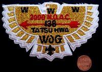 TA TSU HWA LODGE 138 OA INDIAN-NATIONS COUNCIL OK 2000 NOAC FLAP GOLD MYLAR BIRD