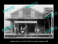 OLD LARGE HISTORIC PHOTO OF BONHAM TEXAS, THE NORTH TEXAS LUMBER Co c1890