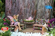 Pretmanns Fairy Gardens Starter Kit Miniature Figurine Bella And Friends 14 Set