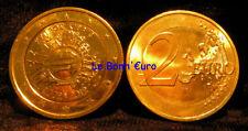 Monnaie commémorative 2 Euro Chypre 2012, 10 ans euro, dorée à l'or fin, UNC