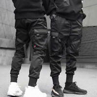 Men Casual Harem Sports Sweatpants Loose Trousers Multi Pocket Cargo Pants