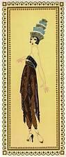 "ORIGINALE VINTAGE Erte Art Deco Print ""Tentatrice"" LIBRO Piastra"