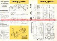 TOYOTA Tercel AL 20 - 1985 : Fiche Technique Auto Carrosserie / Peinture