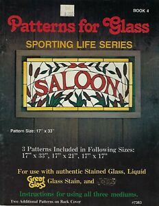 VTG Patterns for Faux Stained Glass Sporting Life Series Craft Book 4 SALOON