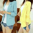 Stylish Women Slim Shrug Suit Blazer Long Sleeve Tops Cardigan Coat Jacket A87