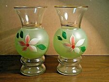 Two Vintage 1950's Hand Painted Vases