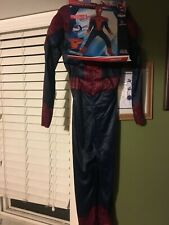 spiderman 2 costume kids 10 -12 brand new muscle suit target exclusive