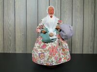 "Vtg France Santons de Provence Old Woman 12"" Terracotta Signed S. Jouglas Clay"