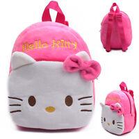 Plush Animal Toddler Backpack Schoolbag Kids KittyCartoon Soft Shoulder Rucksack