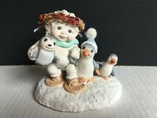 "Dreamsicles Figurine  ""Snowbound"" penguins ~1996~ CD103, No Box *Fast Shipping*"