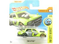 Hotwheels Time Attaxi HW City Works 92/365 Short Card 1 64 Scale Sealed New