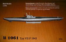U 1061 tipo VII F 1943 1/350 Bird MODELS KIT misto/mixed RESIN KIT