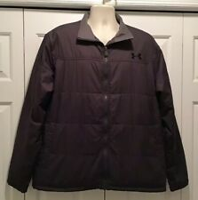 Under Armour Mens Jacket XL Gray Lightly Padded Zip