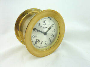 Boston Ships Clock with Key....Clean and Working