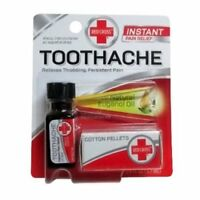 Red Cross Toothache Complete Medication Kit Instant Relief 0.13 oz (Pack of 2)