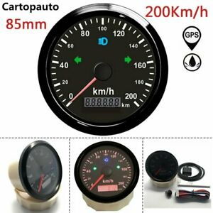 85mm 200Km/h GPS Speedometer Odometers Gauge For Car Truck ATV Motorcycle Boat