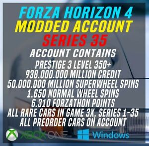 Forza Horizon 4 Modded Accounts Series 35 ONLINE ACCOUNT (USA ASWELL)