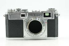 Nikon S2 Black Dial Rangefinder Nippon Kogaku Camera Body                   #675