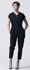 Alexander McQueen Black Cotton Jumpsuit Pants Women's Size 5 EUR S