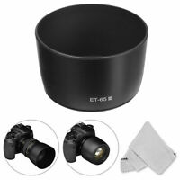 Lens Hood Cover ET 65 III For Canon EF 85mm F/1.8 V6F1 135mm F/2.8-Camera N0Q5