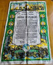 sinn fein Irish 1916 easter rising Rare Linen print 1916 -1966
